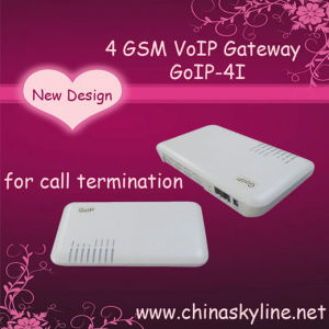 GoIP 4 GSM VoIP Gateway with Internal Antenna to Avoid Custom