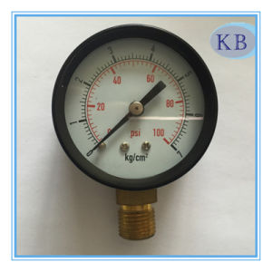 Black Steel Case Dry Vacuum Gauge Bottom Connection pictures & photos