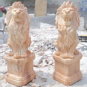 Marble Lion Sculpture, Statue (MQ-383)