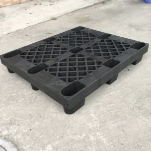 9 Legs Nestable Single Use Cheap One Way Export Black Plastic Pallet Price pictures & photos