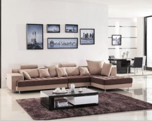 Chinese Furniture/Combination Sofa/Hotel Modern Sectional Sofa/Living Room Modern Sofa/Corner Sofa/Upholstery Fabric Modern Apartment Sofa (GLMS-021) pictures & photos