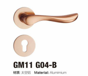 Beautiful Euro Style Aluminum Rosette Door Handle (GM11 G04) pictures & photos