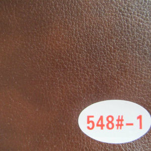 High Quality Brown Color PU Sofa Leather Material (548#) pictures & photos