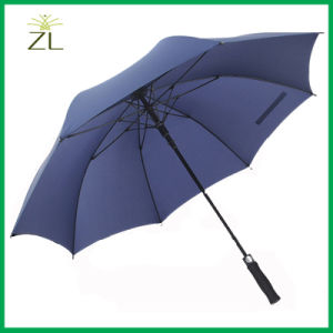 Custom Logo 190t Nylon Fabric Material Fiberglass Golf Umbrella for Promotional pictures & photos