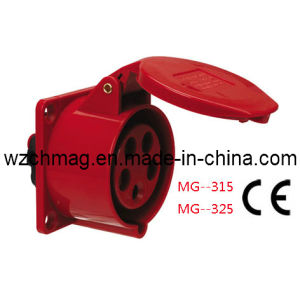 Industrial Panel Straight Socket IP44 32A 5p Red 325