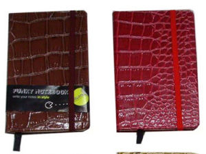 Shining PU Crocodile Leather Cover Minute Book pictures & photos
