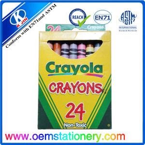 8.8*0.72cm Crayola Wax Crayon / Finger Shaped Crayon / 24 PCS Mini Crayon