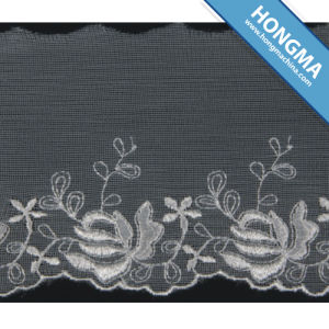 Good Quality Mesh Elegant Organza Lace (1607-0025)