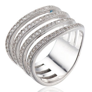 CZ Ring Sterling Silver Rhodium Plating Ring pictures & photos