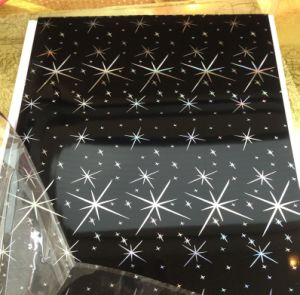 200*7.5mm Plastic Panel for Wall (hot stamping, start color) pictures & photos