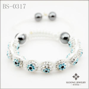Evil Eye Shamballa Bracelet (BS-0317)
