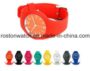 Environmental Protection Japan Movement Silicon Fashion Watch pictures & photos