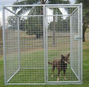 5′*6′*7′ Outdoor Powdering Coated Weld Wire Mesh Dog Kennel/Dog Cage pictures & photos