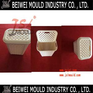 Rattan Style Plastic Laundry Basket Mould pictures & photos