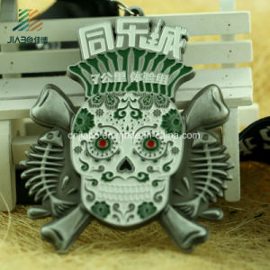 Hot Sale Zinc Alloy Custom Skull Design Running Medals with Enamel pictures & photos