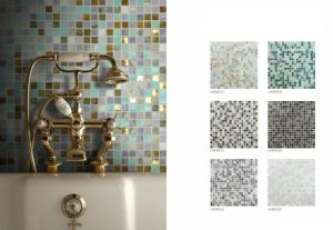 30X30 Hotsale 4mm Thickness Crystal Glass and Marble Mosaic Tile (LARMS13) pictures & photos
