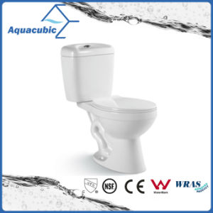 Two Piece Dual Flush Ceramic Toilet in White (ACT7302) pictures & photos