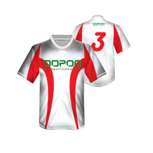 White Color Soccer Jersey Uniform with Low MOQ pictures & photos