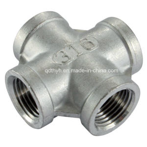 "Stainless Steel Pipe Fittings - Equal Cross 1"" NPT Female - 150lb pictures & photos"