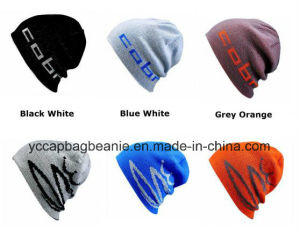 100%Acrylic Ski Sport Knitted Reversible Beanie pictures & photos