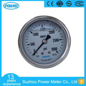 60mm 2.5 Inch Stainless Steel Case Liquid Filled Pressure Gauge pictures & photos