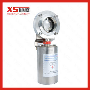 Stainless Steel Sanitary Automatic Pneumatic Butterfly Valve pictures & photos