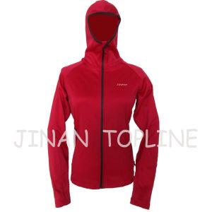 Women Elastic Spandex Microfleece Fabric Jacket pictures & photos