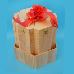 Classical Design Exquisite Wooden Wine Box Customized with Fsliding Lid pictures & photos