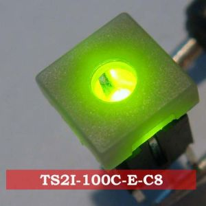 SGS Electronic Illuminated 4pins LED Waterproof PC Tact Square Switch