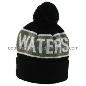 Popular Stripes Jacquard Cuff POM Ski Knitted Beanie Hat (TMK0190-1) pictures & photos