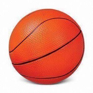 PU Foam Stress Ball Basketball Shape Toy
