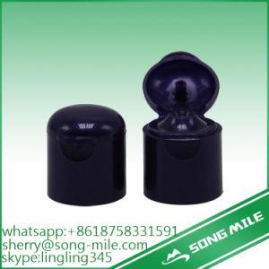 Black Plastic Disc Top Cap Flip Top Bottle Cap in Black Color pictures & photos