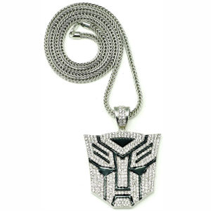 New Fashion Iced out Transformer Hiphop Pendant Necklace Jewelry (W-Nw631)