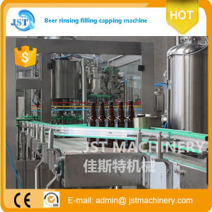 Complete 3 in 1 Glass Bottle Beer Filling Packing Machine pictures & photos