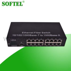 10/100/1000m Fiber Optic to Ethernet Switch/Converter pictures & photos