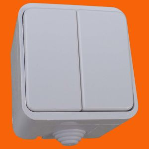 IP44 Europe Surface Mounted Power Wall Switch (S3002) pictures & photos