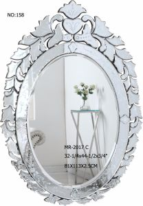 Leaf Shape Hand Carved Decor Wall Mirror pictures & photos
