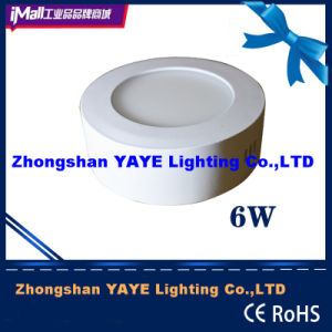 Yaye Hot Sell CE/RoHS Round 6W Surface Mounted LED Panel Light with 2/3years Warranty pictures & photos
