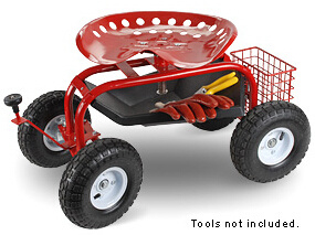 Garden Seat Cart with Four Wheels pictures & photos