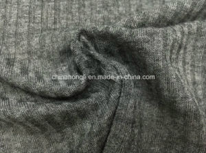 High Quality 4*4 Rib, 100%Viscose, 150GSM, Charocal Knitting Fabric pictures & photos