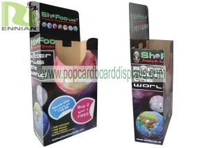 Cardboard Display Box for Football Colorful Printing Corrugated Display Racks (ENCA001)