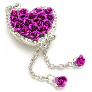 Rose Shape Jewelry USB Flash Drive Memory Stick Pendrive pictures & photos