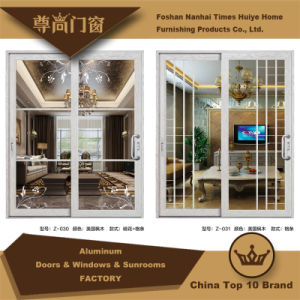 Aluminum Sliding Door with Elegant Decoration pictures & photos