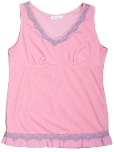 Women′s Beautiful Velour Tank Make of 80%Cotton 20%Polyester pictures & photos