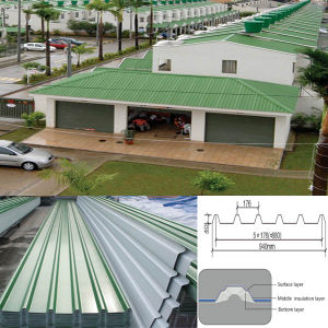 Plastic Heat Insulated PVC Roof Sheet pictures & photos