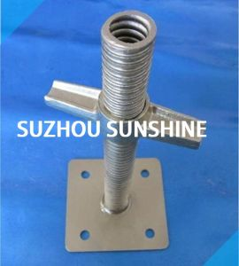 Adjustable Solid Screw Scaffolding Jack Base pictures & photos