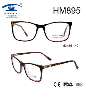 Hot Sale Fashion Embossed Acetate Optical Frame for Lady (HM895) pictures & photos