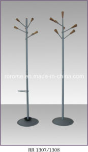Classical Coat Stand with Wooden Hooks (RR-1307-P2)