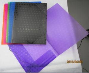 Customized Circle Texture File Folder with Elastic Band (F034) pictures & photos