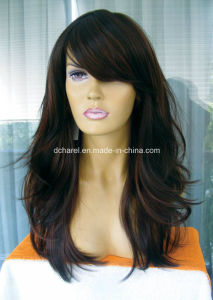 Top Quality 100% Kanekalon Fiber Synthetic Hair Wigs pictures & photos